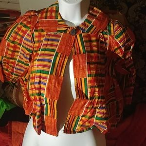 Girls or women's jacket African fabric